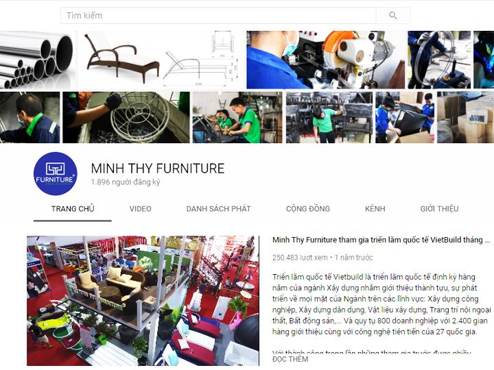 Kênh Youtube Minh Thy Furniture