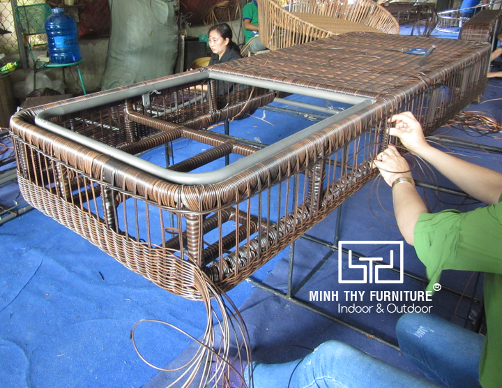 Đan tạo kiểucho ghế hồ bơi khung nhôm